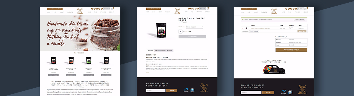 Cosmetics Ecommerce Website Design